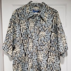 Vintage Men's Quicksilver Tribal Design Button up
